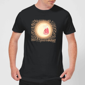 Camiseta Rick y Morty Screaming Sun - Hombre - Negro
