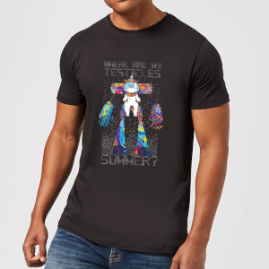 Rick and Morty Where Are My Testicles Summer Men's T-Shirt - Black
