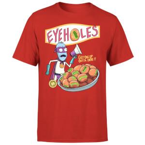 T-Shirt Homme Eyeholes Rick et Morty - Rouge