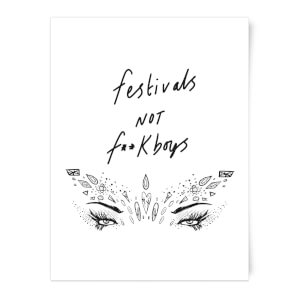 Rock On Ruby Festivals Not F**k Boys Art Print