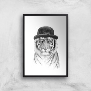 Balazs Solti Tiger In A Hat Art Print