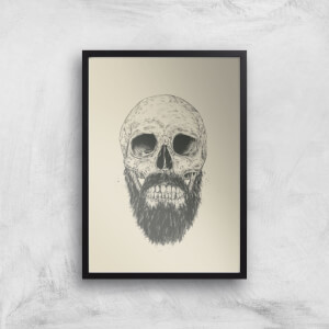 Balazs Solti Bearded Skull Art Print