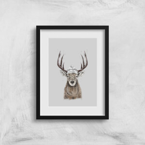 Balazs Solti Winter Deer Art Print