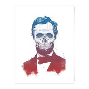 Balazs Solti Suited and Booted Skull Art Print