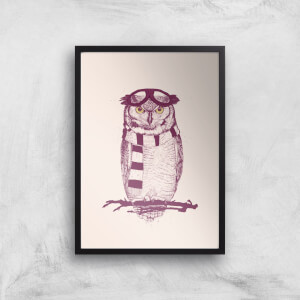 Balazs Solti Winter Owl Art Print