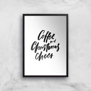 PlanetA444 Coffee and Christmas Cheer Art Print