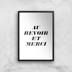 PlanetA444 Au Revoir Et Merci Art Print