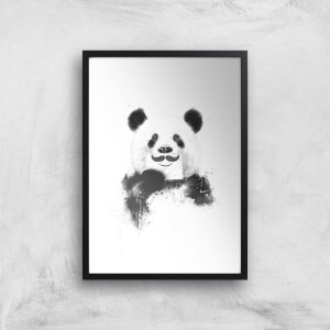 Balazs Solti Moustache and Panda Art Print