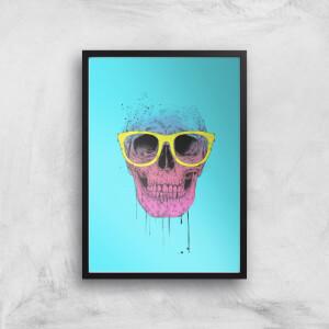 Balazs Solti Skull and Glasses Art Print