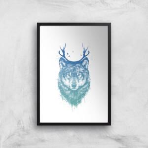 Balazs Solti Wolf Art Print
