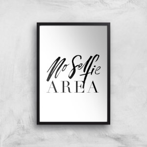 PlanetA444 No Selfie Area Art Print