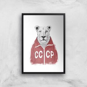 Balazs Solti CCCP Lion Art Print