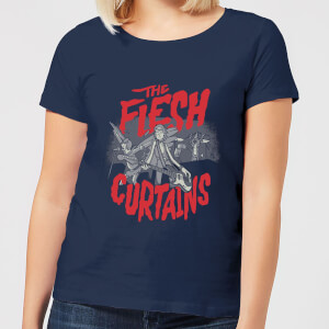 Rick and Morty The Flesh Curtains Dames T-shirt - Navy
