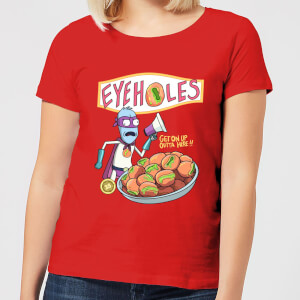 Rick and Morty Eyeholes Dames T-shirt - Zavvi Exclusive - Rood
