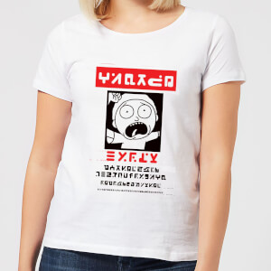 T-Shirt Femme Wanted Morty Rick et Morty - Blanc
