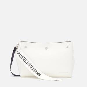 Calvin Klein Women's Logo Banner Shoulder Bag - Bright White