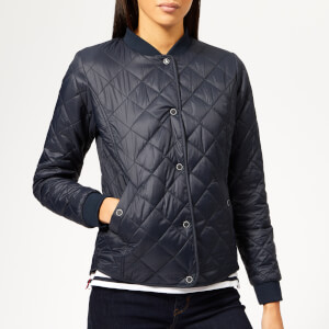 Barbour Women's Applecross Quilted Coat - Navy/Coastal Red