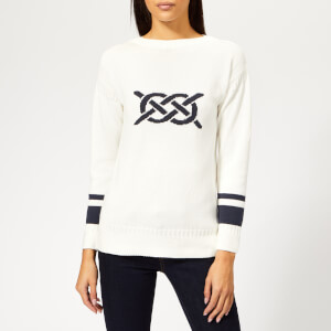 Barbour Women's Mast Knitted Jumper - Off White