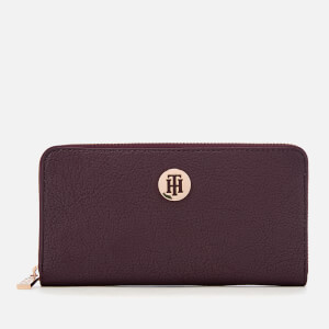 Tommy Hilfiger Women's Core Large Zip Around Wallet - Cabernet