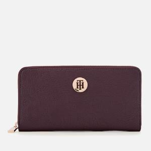 Tommy Hilfiger Women's Core Large Zip Around Wallet - Cabernet