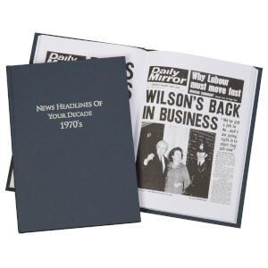 Newspaper 1970s Decade Book - Hardback