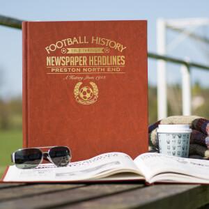 Preston Newspaper History Book - Brown Leatherette