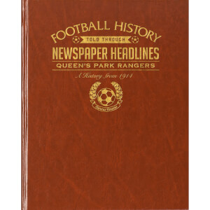 QPR Newspaper Book - Brown Leatherette