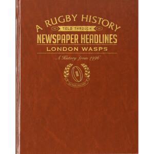 London Wasps Rugby Newspaper Book - Brown Leatherette