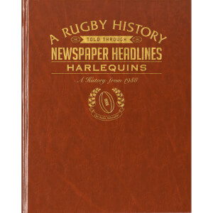 Harlequins Rugby Newspaper Book - Brown Leatherette