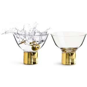 Sagaform Club Cocktail/Dessert Glasses - Gold (Set of 2)