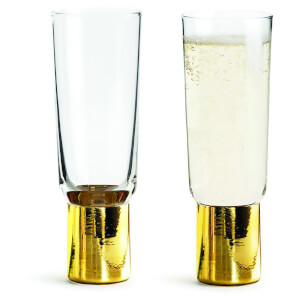 Sagaform Club Champagne Glasses - Gold (Set of 2)