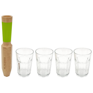 Cookut Morry We Are Mojito Tool Set with 4 Glasses