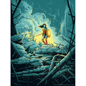 "DC Comics Wonder Woman ""Warrior"" Silkscreen Print by Dan Mumford"