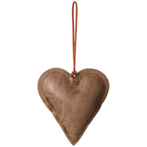 Broste Copenhagen Fade Christmas Ornament - Brown - Heart