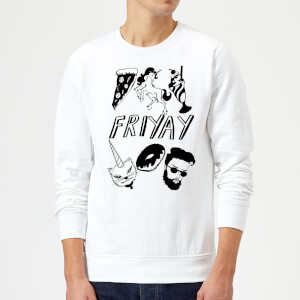Rock On Ruby Friyay Sweatshirt - White