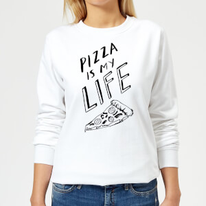 Rock On Ruby Pizza Is My Life Women's Sweatshirt - White