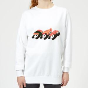 Tobias Fonseca Panda Sushi Women's Sweatshirt - White