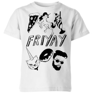 Rock On Ruby Friyay Kids' T-Shirt - White