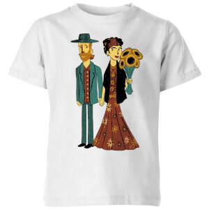 Tobias Fonseca Love Is Art - Frida Kahlo and Van Gogh Kids' T-Shirt - White