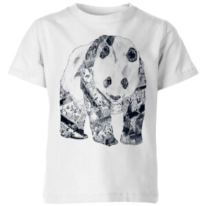 Tobias Fonseca Tattooed Panda Kids' T-Shirt - White