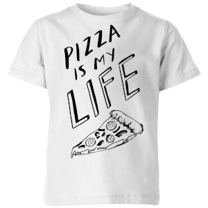 Rock On Ruby Pizza Is My Life Kids' T-Shirt - White