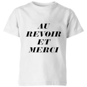 PlanetA444 Au Revoir Et Merci Kids' T-Shirt - White
