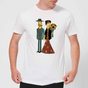 Love Is Art - Frida Kahlo And Van Gogh Men's T-Shirt - White