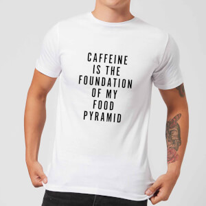 PlanetA444 Caffeine Is The Foundation Of My Food Pyramid Men's T-Shirt - White