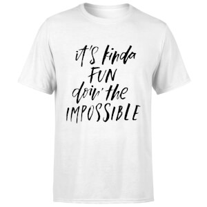 PlanetA444 It's Kinda Fun Doin' The Impossible Men's T-Shirt - White
