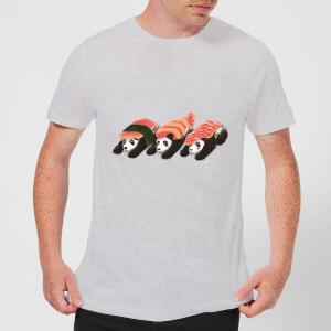 Tobias Fonseca Panda Sushi Men's T-Shirt - Grey