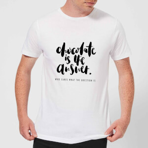 PlanetA444 Chocolate Is The Answer Men's T-Shirt - White