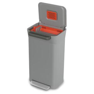 Joseph Joseph Titan 30 Trash Compacting Bin - Pebble