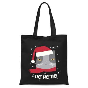Ho Ho Ho Tote Bag - Black