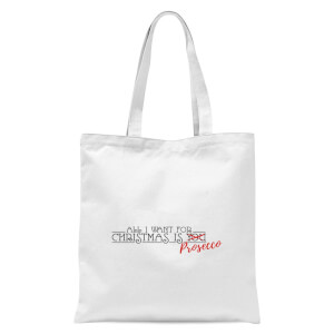All I Want for Christmas Is Prosecco Tote Bag - White